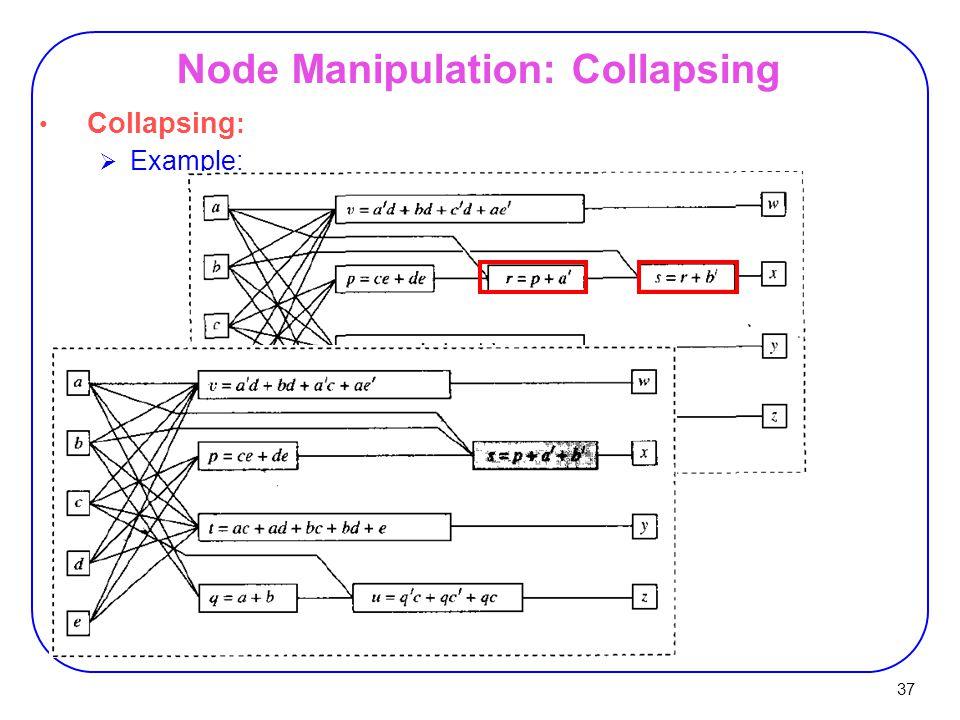 37 Node Manipulation: Collapsing Collapsing :  Example: