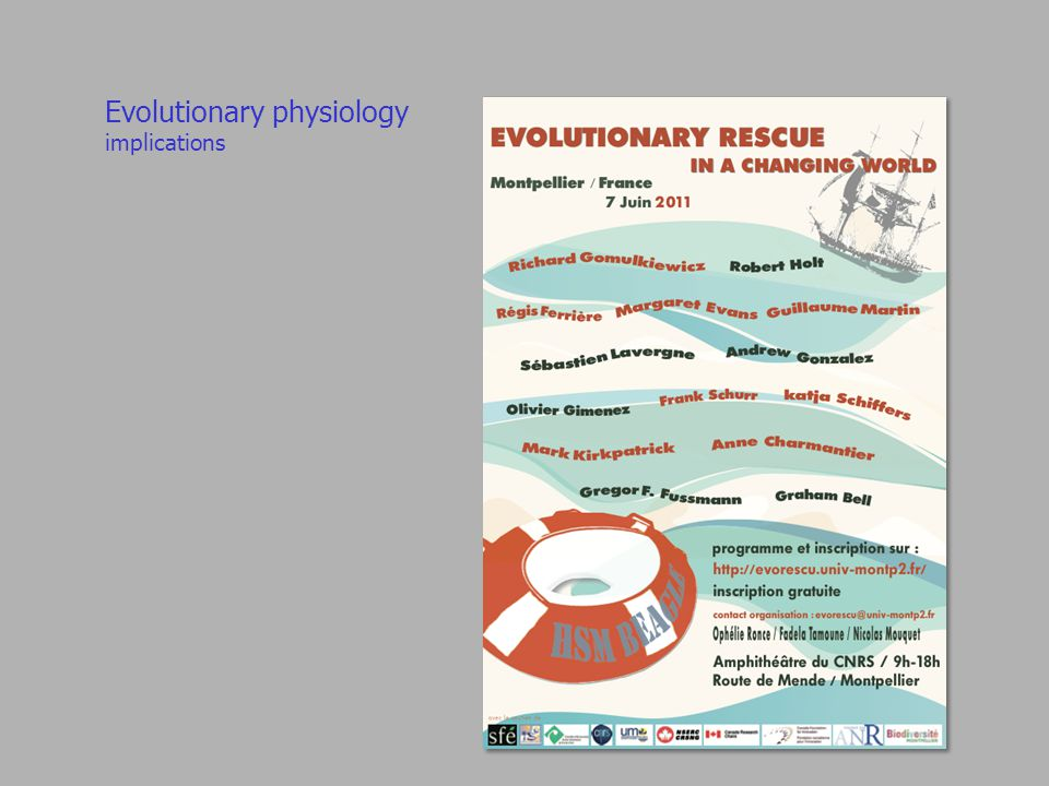 Evolutionary physiology implications