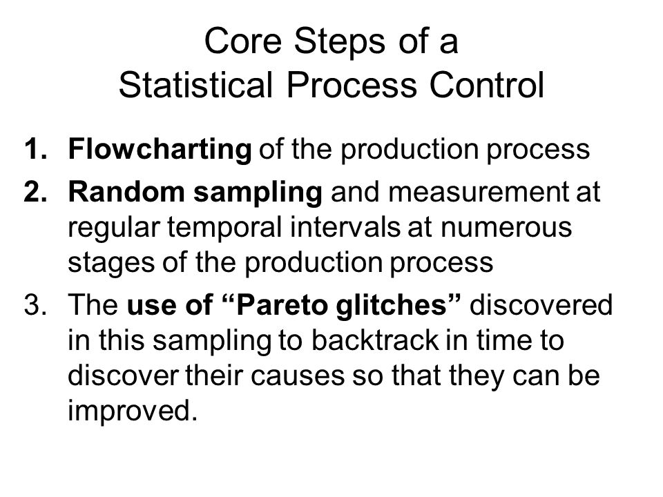 3.8 Process Capability We have discussed some control charts for detecting Pareto glitches in a process.