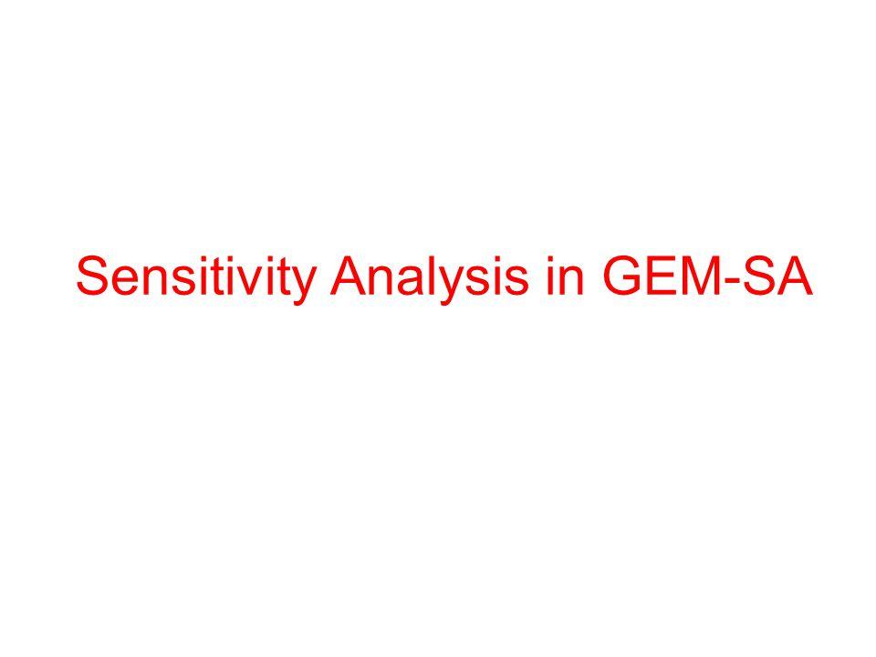 Sensitivity Analysis in GEM-SA