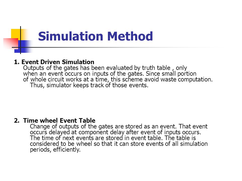 Simulation Method 1.