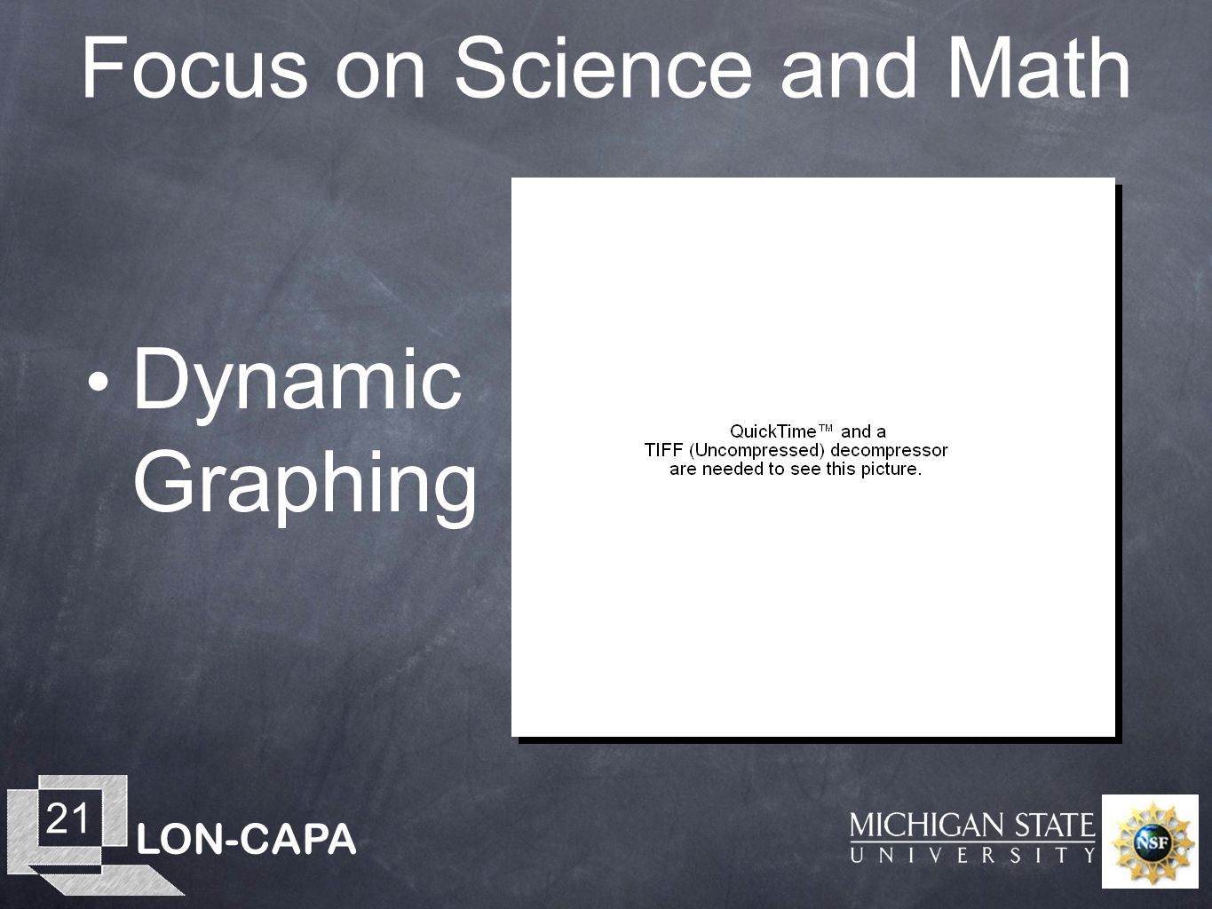 LON-CAPA 21 Focus on Science and Math Dynamic Graphing