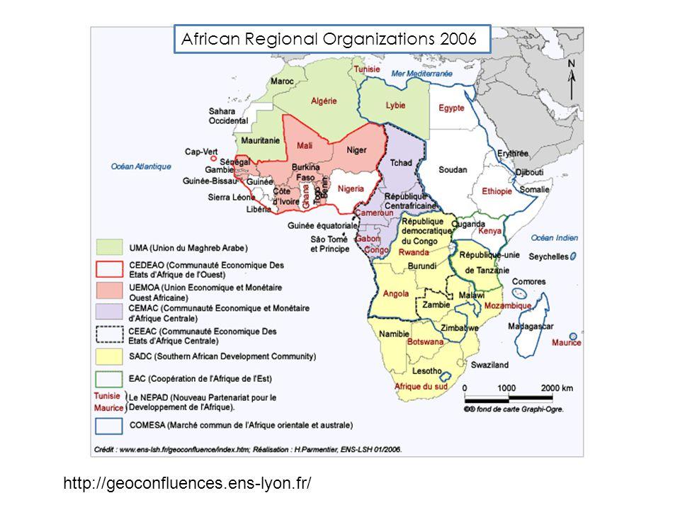 http://geoconfluences.ens-lyon.fr/ African Regional Organizations 2006