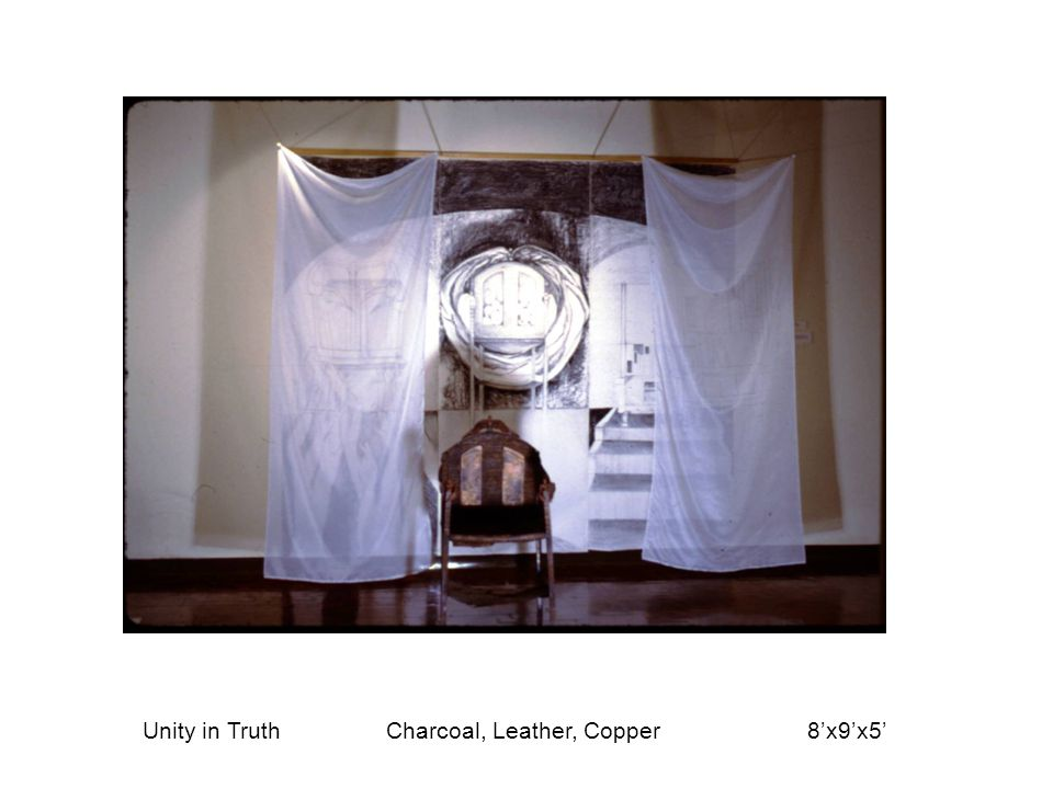 Unity in Truth Charcoal, Leather, Copper 8'x9'x5'