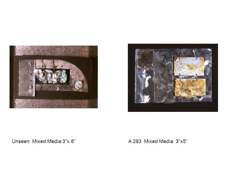 "Unseen Mixed Media 3""x 6"" A 293 Mixed Media 3""x5"""