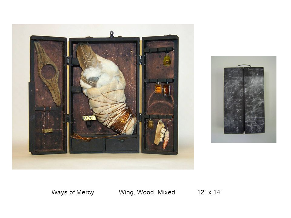 "Ways of Mercy Wing, Wood, Mixed12"" x 14"""