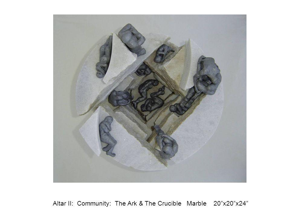 "Altar II: Community: The Ark & The Crucible Marble 20""x20""x24"""