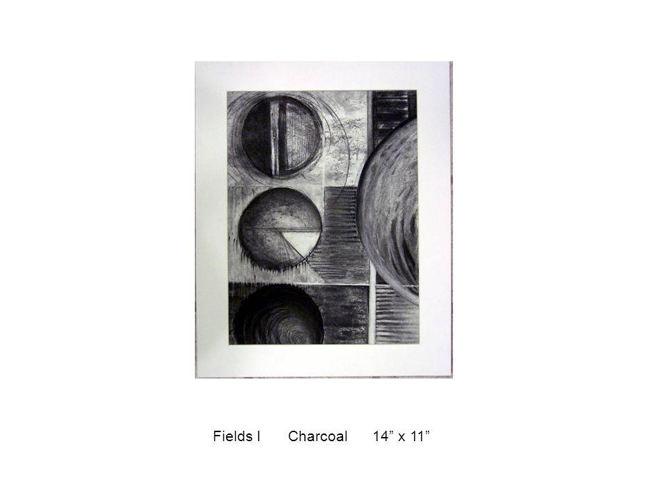 "Fields I Charcoal 14"" x 11"""