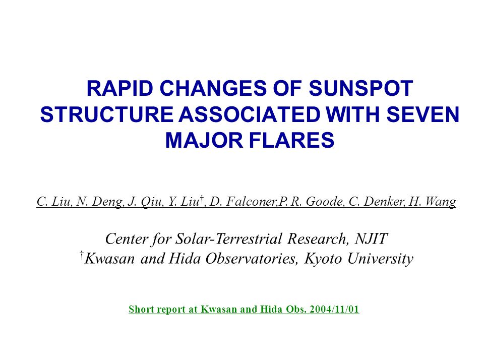 RAPID CHANGES OF SUNSPOT STRUCTURE ASSOCIATED WITH SEVEN MAJOR FLARES C.