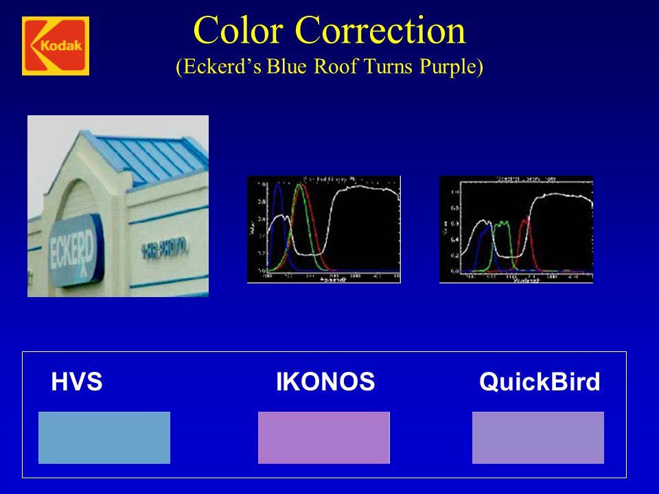 Color Correction (Eckerd's Blue Roof Turns Purple) HVSIKONOSQuickBird