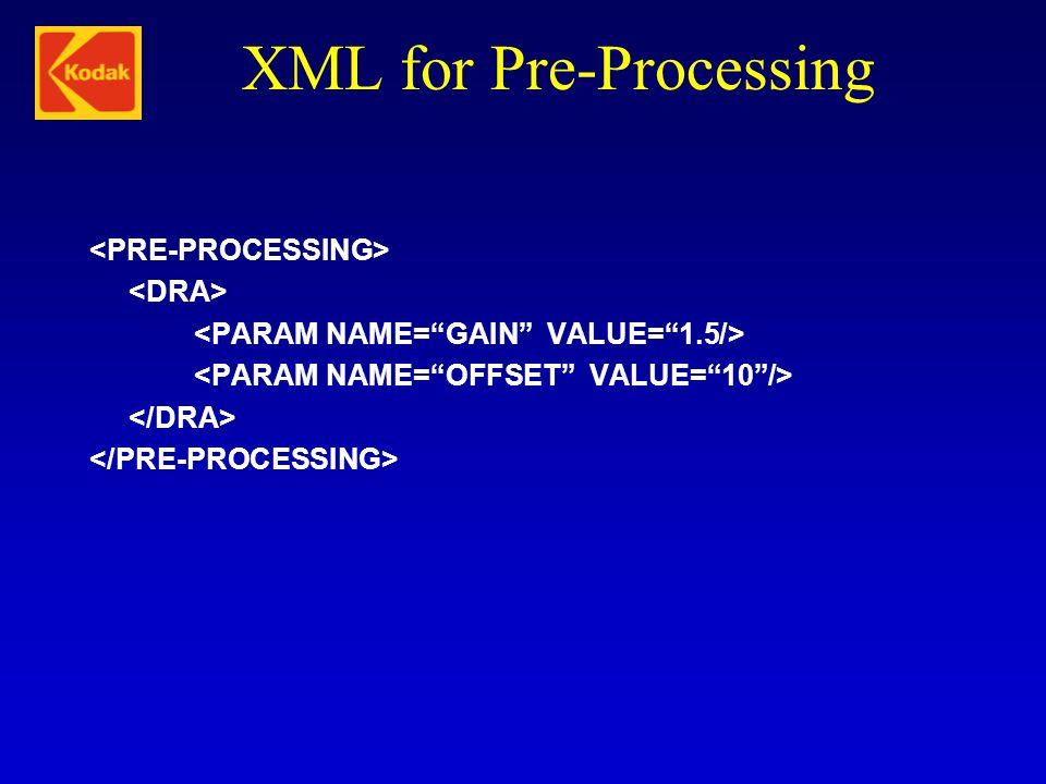 XML for Pre-Processing