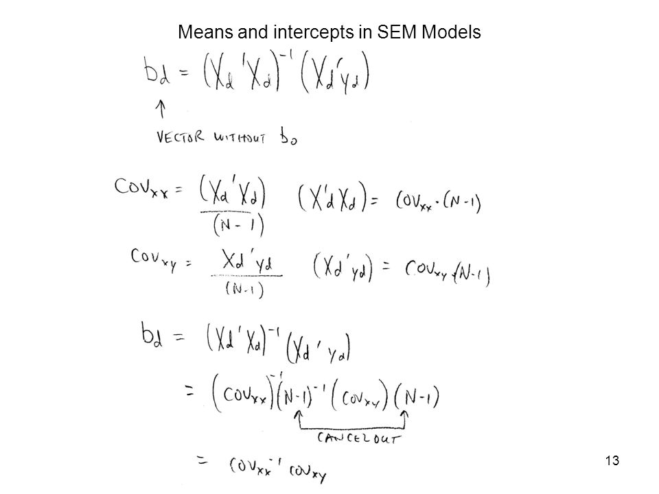 13 Means and intercepts in SEM Models