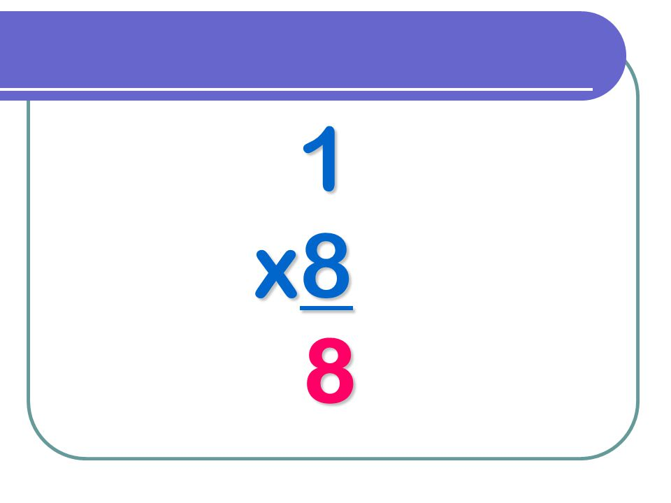 1 x8 8