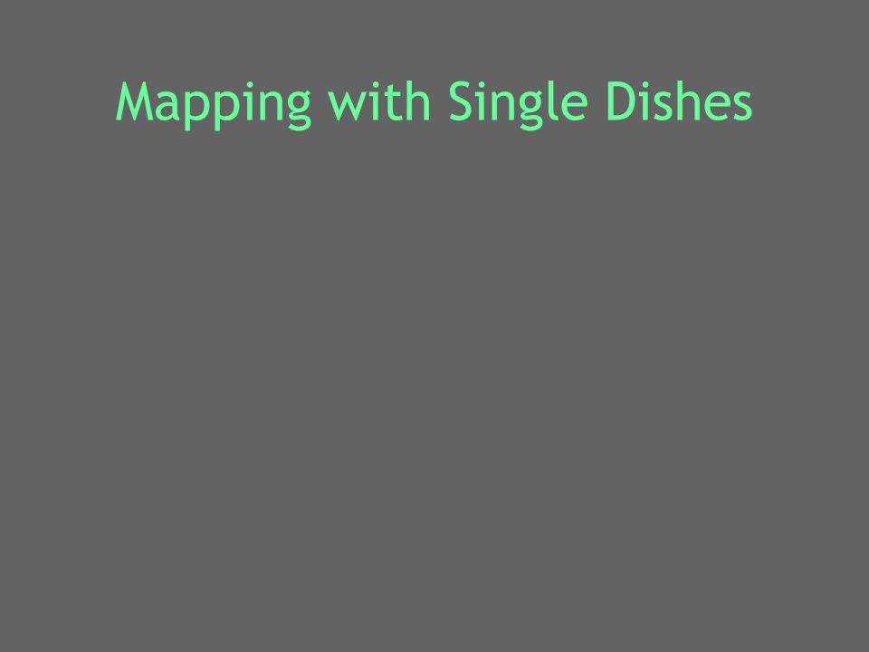 Mapping with Single Dishes