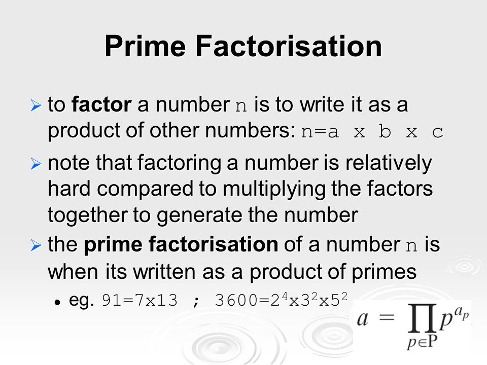 Relatively Prime Numbers & GCD two numbers a, b are relatively prime if they have no common divisors apart from 1 two numbers a, b are relatively prime if they have no common divisors apart from 1 eg.