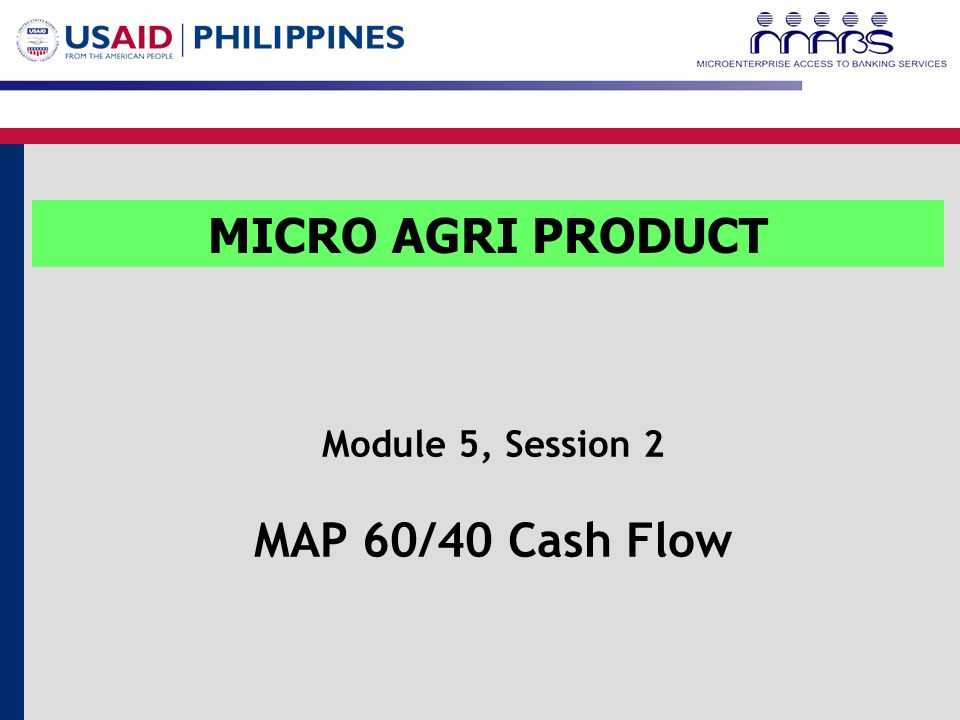 Introduction The results of MABS' survey in 2006 revealed that there remains a high demand for lump sum mode of payment among farmers.