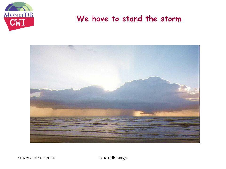 We have to stand the storm M.Kersten Mar 2010DIR Edinburgh