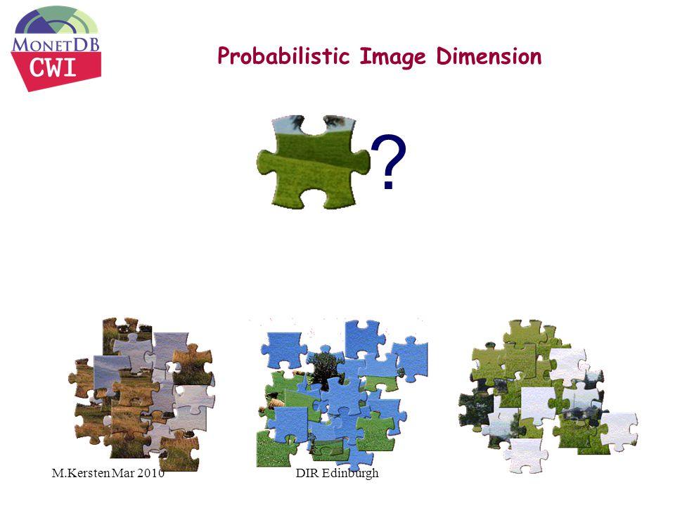 M.Kersten Mar 2010 Probabilistic Image Dimension ? DIR Edinburgh
