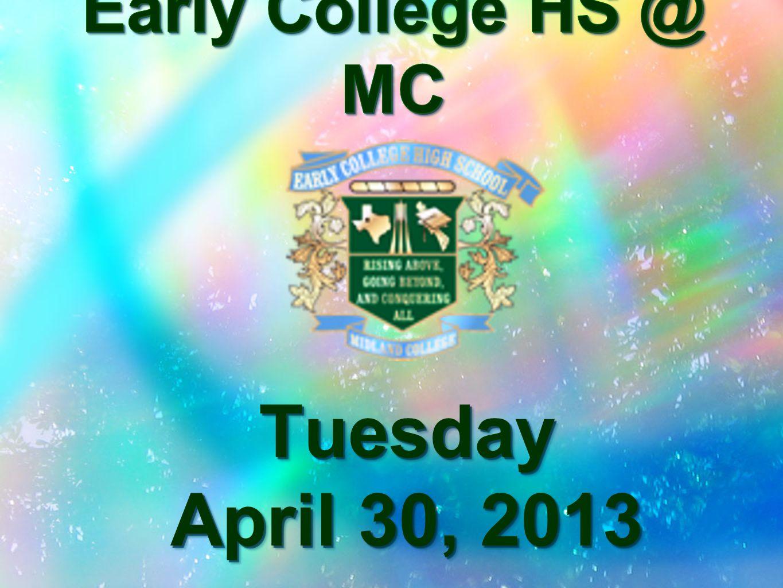 Tuesday April 30, 2013