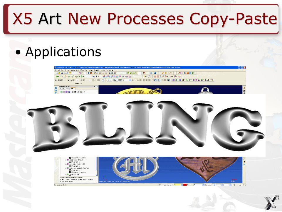 Applications X5 Art New Processes Copy-Paste