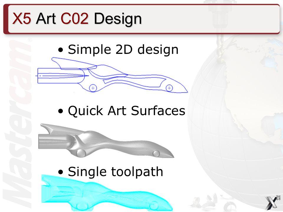 Simple 2D design Quick Art Surfaces Single toolpath