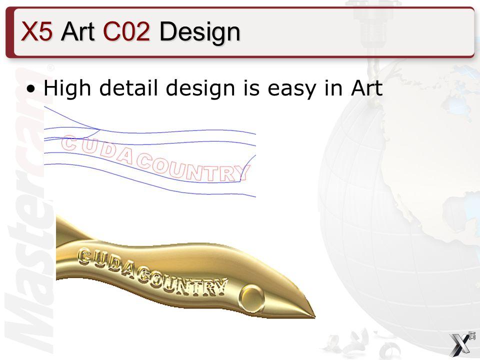 High detail design is easy in Art X5 Art C02 Design