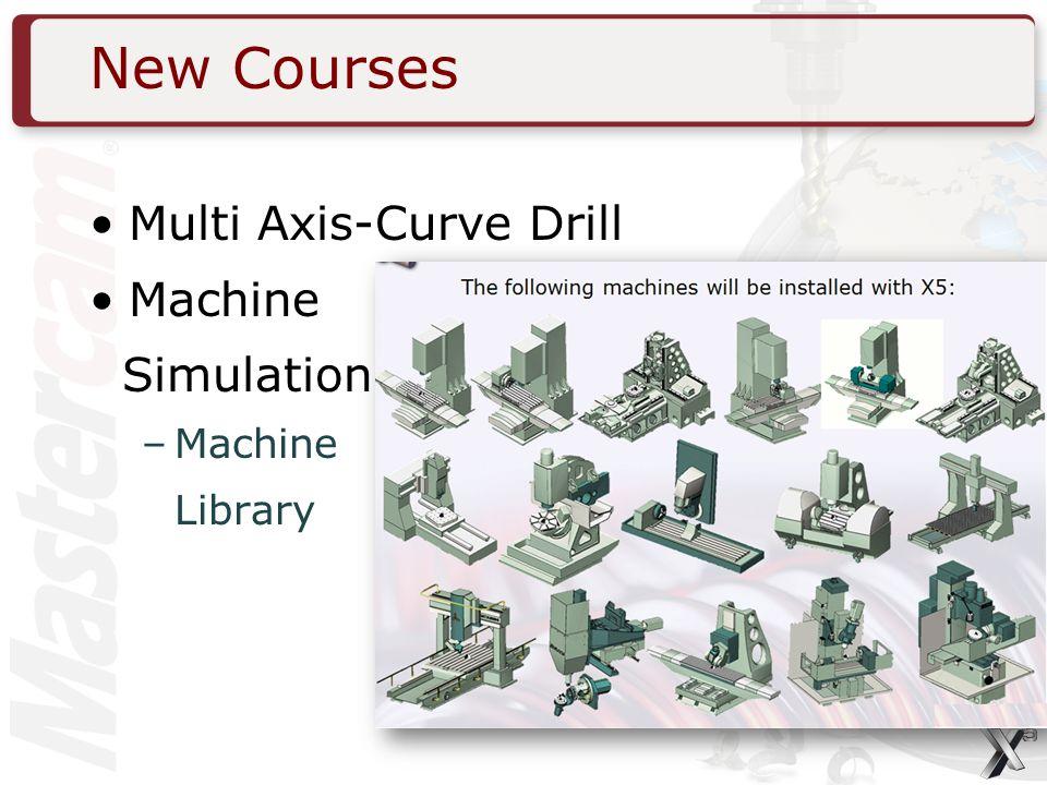 New Courses Multi Axis-Curve Drill Machine Simulation –Machine Library