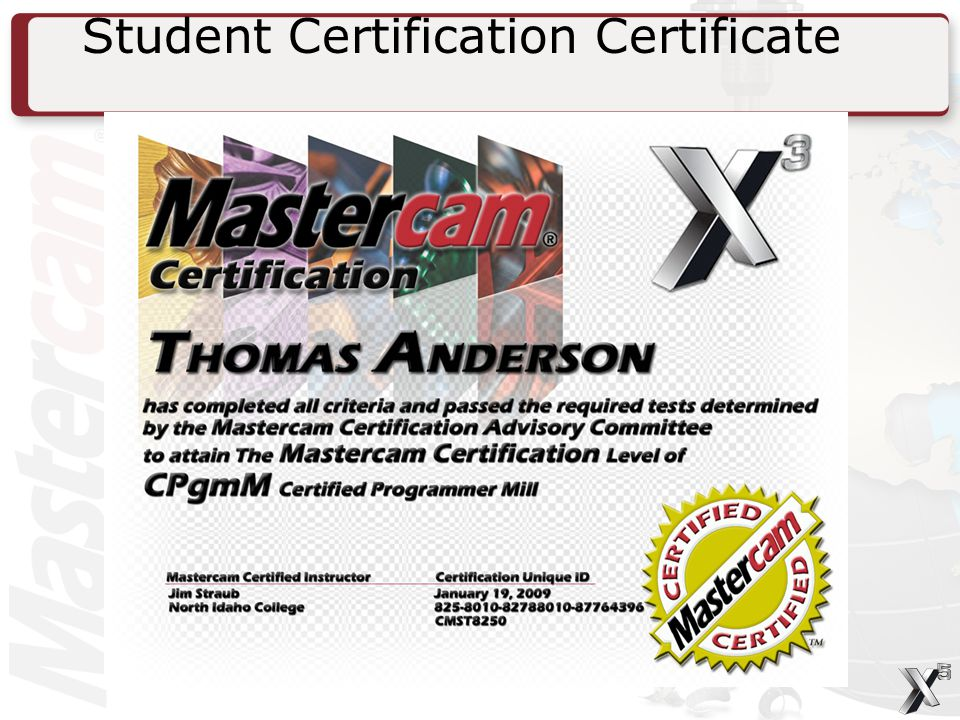 Student Certification Certificate