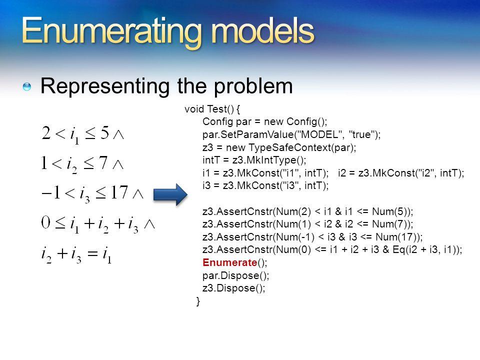 Representing the problem void Test() { Config par = new Config(); par.SetParamValue(