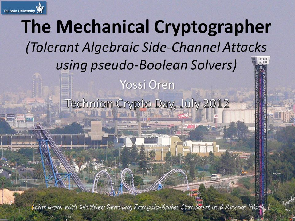 The Mechanical Cryptographer (Tolerant Algebraic Side-Channel Attacks using pseudo-Boolean Solvers) 1