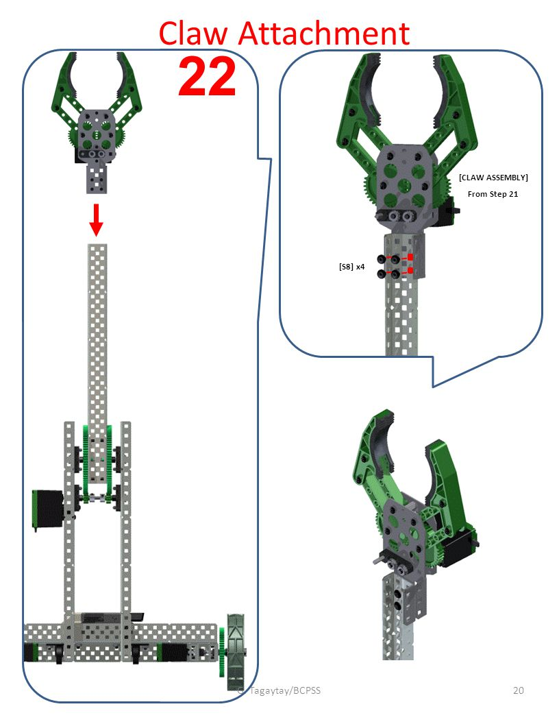 [S8] x4 [CLAW ASSEMBLY] From Step 21 Claw Attachment G. Tagaytay/BCPSS20 22