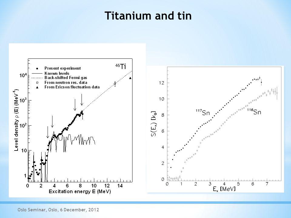 Titanium and tin Oslo Seminar, Oslo, 6 December, 2012 46 Ti