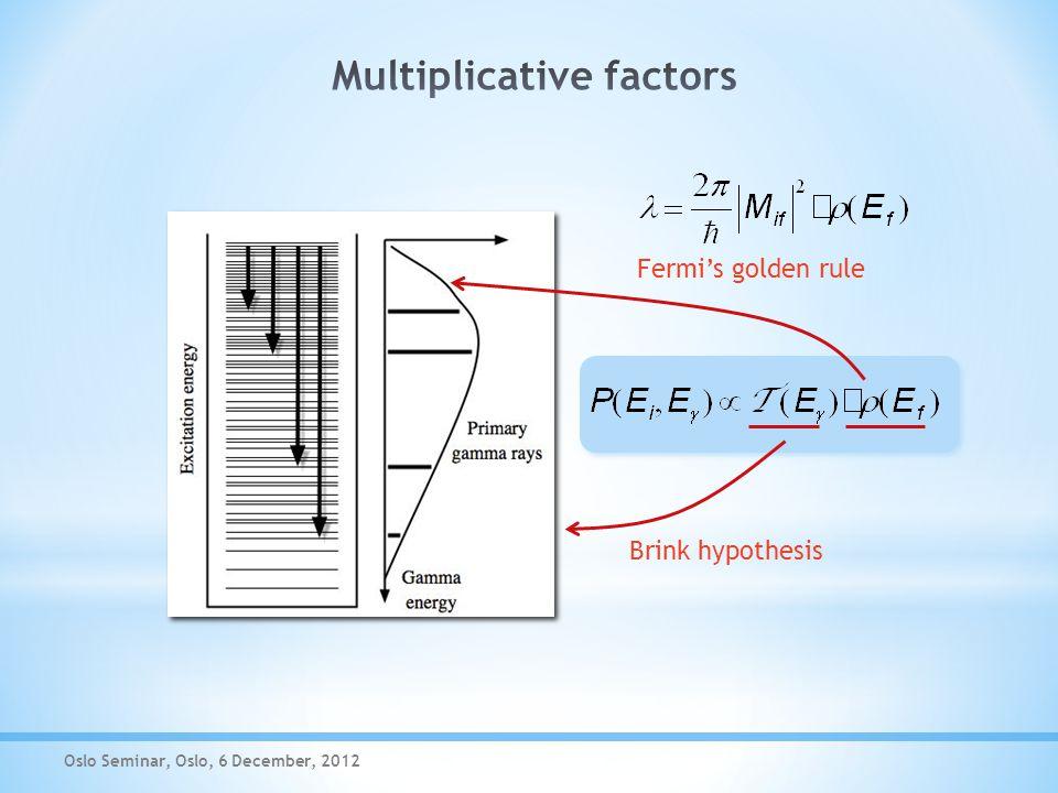  Brink hypothesis  Fermi's golden rule