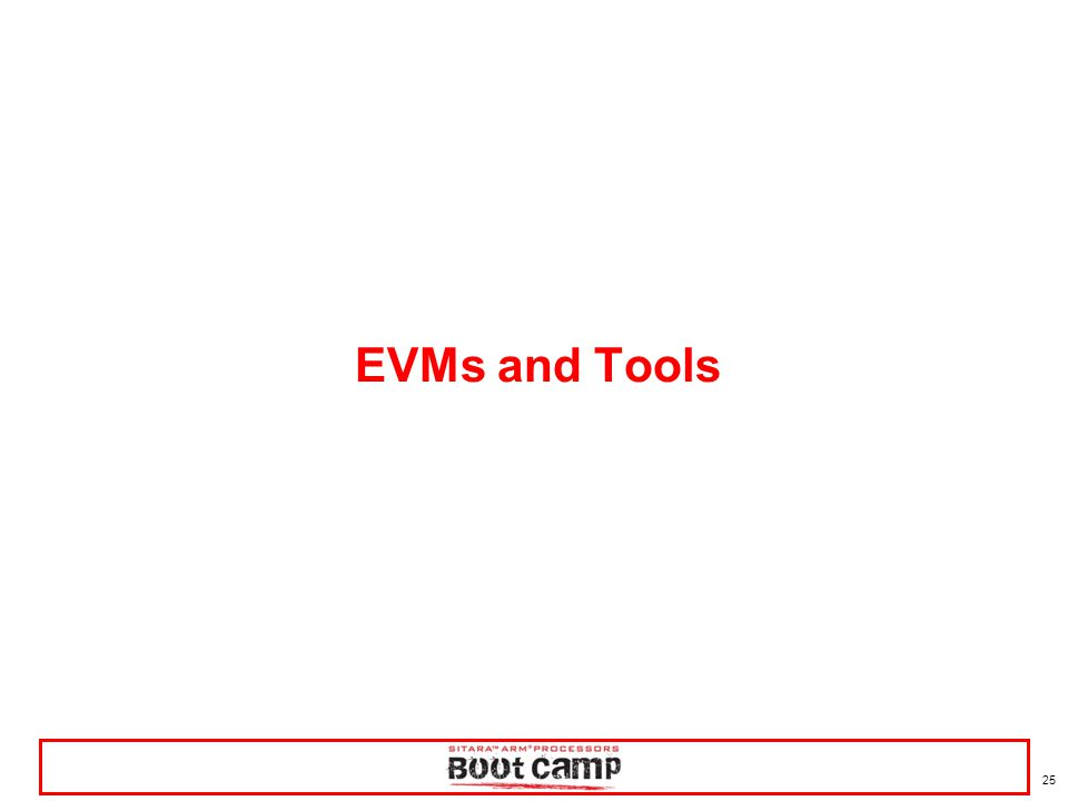 25 EVMs and Tools