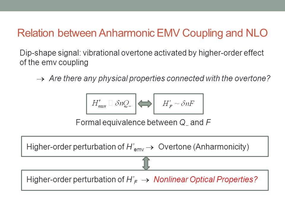 Relation between Anharmonic EMV Coupling and NLO Dip-shape signal: vibrational overtone activated by higher-order effect of the emv coupling  Are the