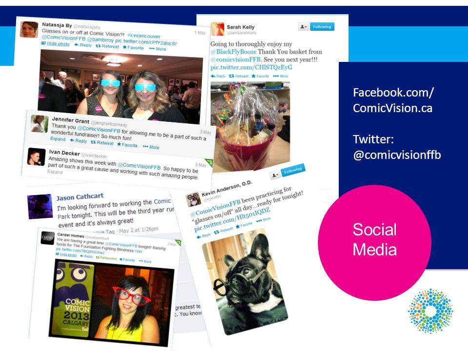 Social Media Facebook.com/ ComicVision.ca Twitter: @comicvisionffb