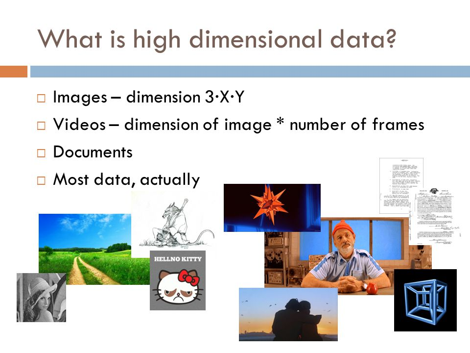What is high dimensional data.