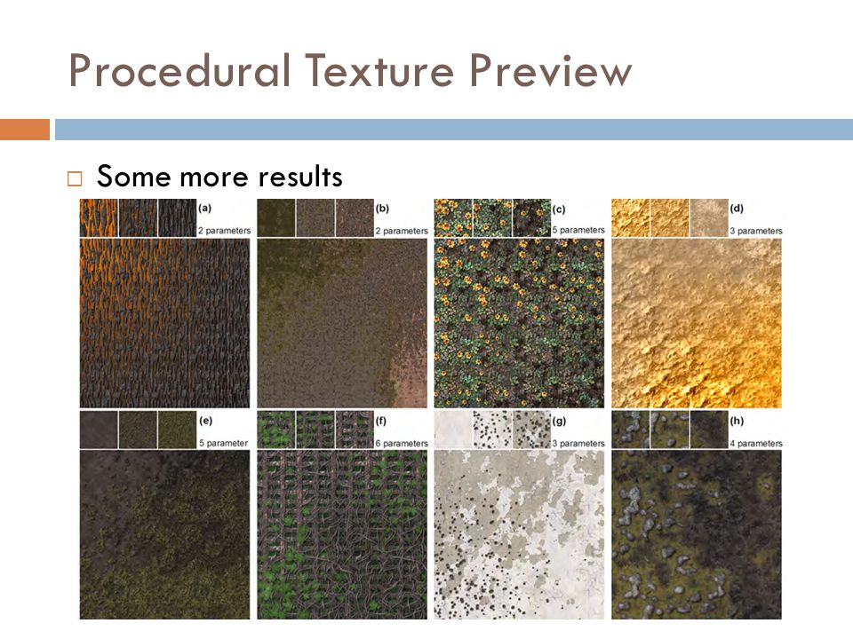 Procedural Texture Preview  Some more results