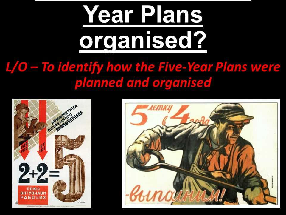 What were the Five-Year Plans.