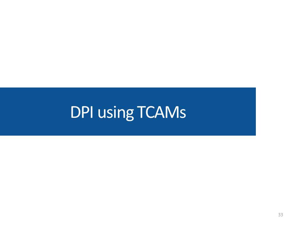 DPI using TCAMs 33