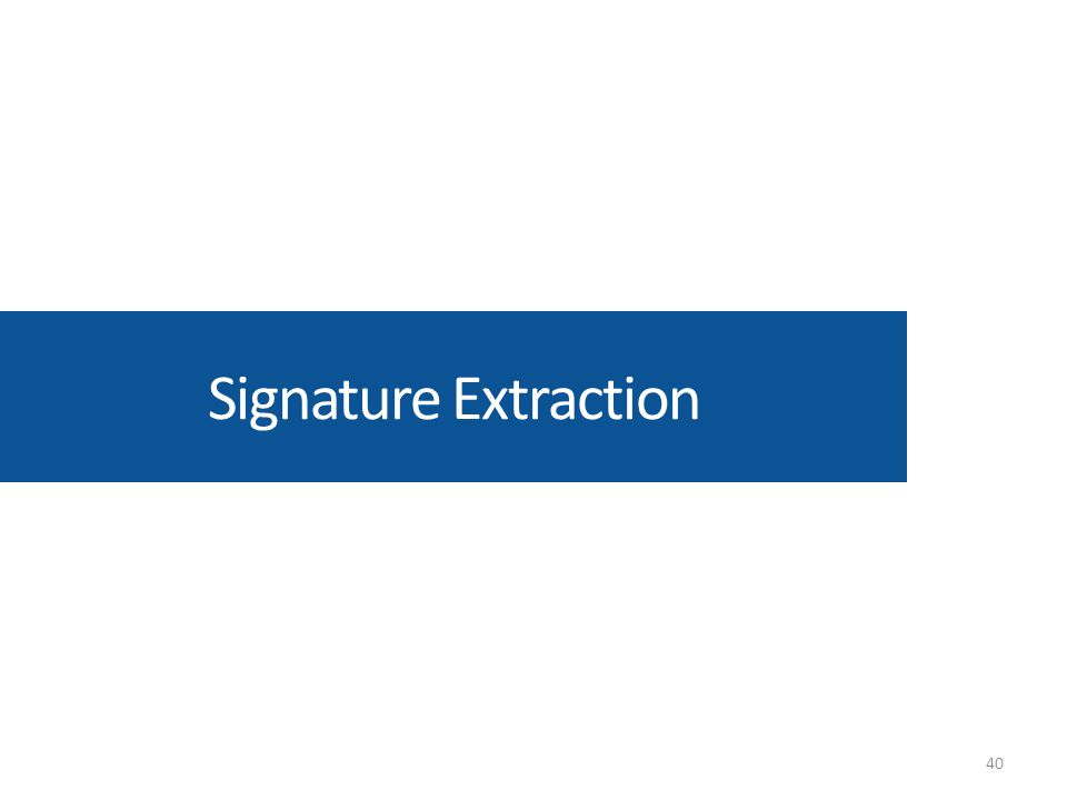 Signature Extraction 40