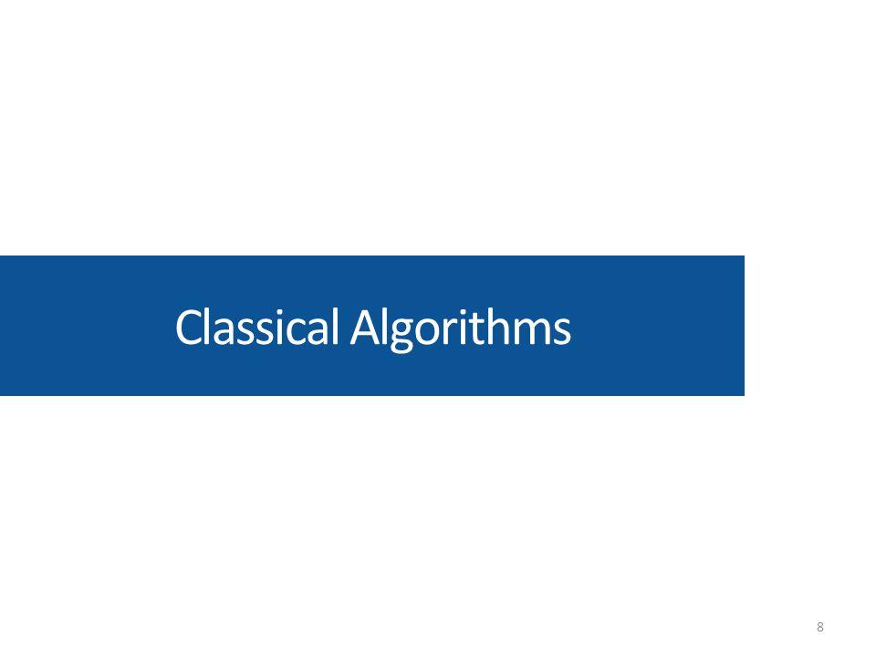 Classical Algorithms 8