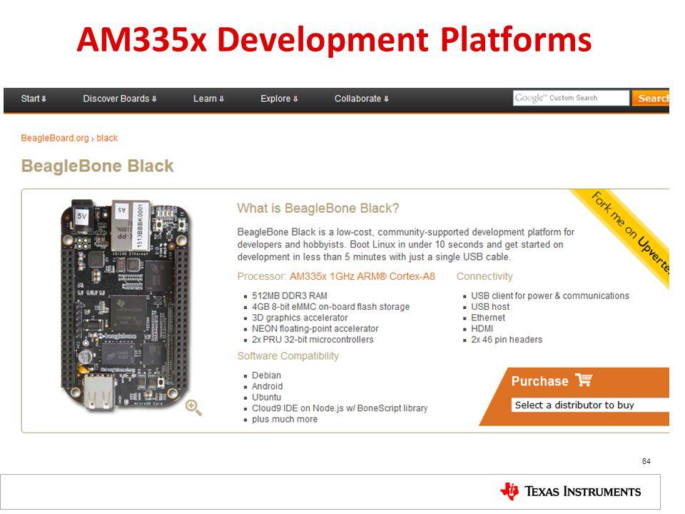 AM335x Development Platforms 64