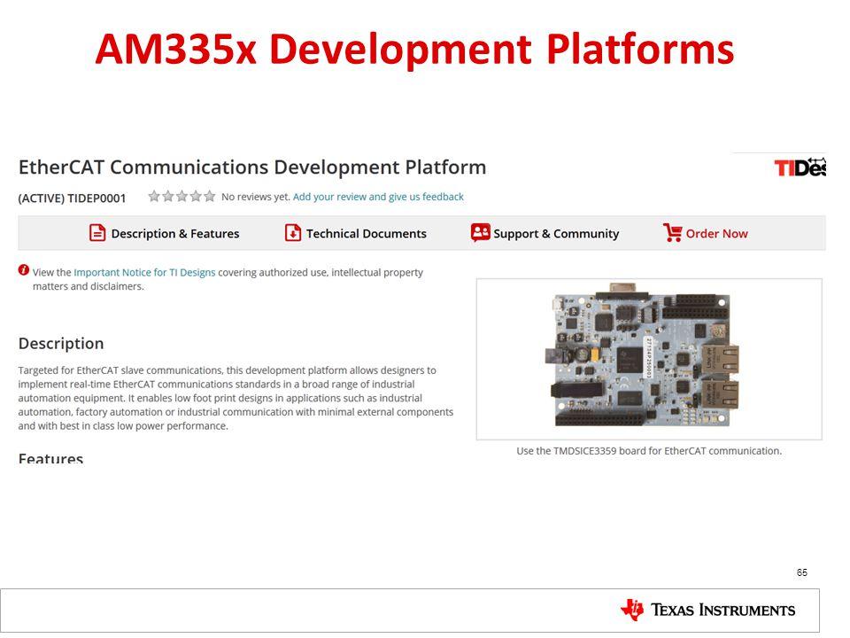 AM335x Development Platforms 65