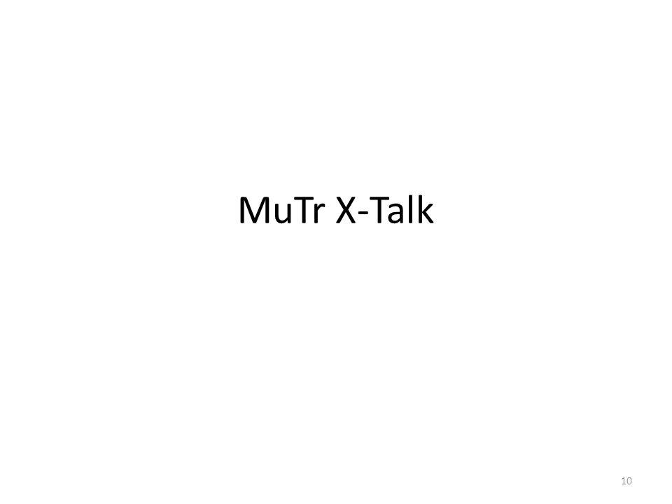 MuTr X-Talk 10