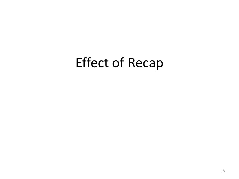 Effect of Recap 18