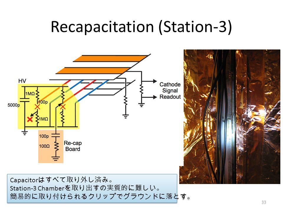 Recapacitation (Station-3) Capacitor はすべて取り外し済み。 Station-3 Chamber を取り出すの実質的に難しい。 簡易的に取り付けられるクリップでグラウンドに落とす。 Capacitor はすべて取り外し済み。 Station-3 Chamber を取り出すの実質的に難しい。 簡易的に取り付けられるクリップでグラウンドに落とす。 33
