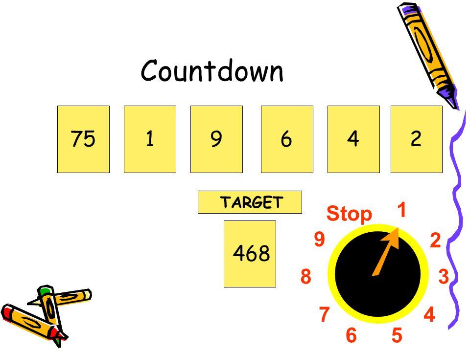 1 2 3 4 56 7 8 9 Stop Countdown 751964468 TARGET 2