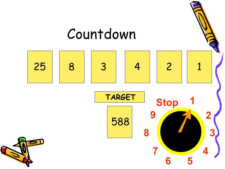 1 2 3 4 56 7 8 9 Stop Countdown 258342588 TARGET 1