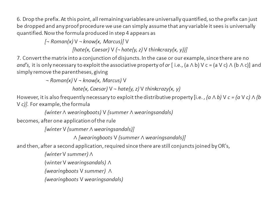 6. Drop the prefix.